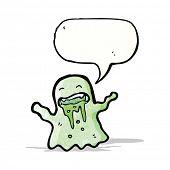 cartoon slimy ghost
