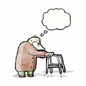 cartoon elderly man