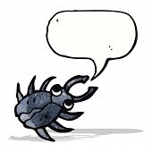 cartoon beetle with speech bubble