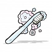cartoon toothbrush
