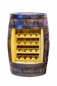 Wooden Wine Fridge.