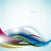 eps10 vector multicolor wave grunge concept background
