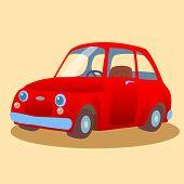 Small, family-run red car