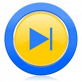 next blue yellow icon