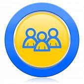 forum blue yellow icon