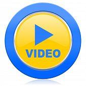 video blue yellow icon