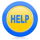 help blue yellow icon
