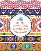 Navajo seamless tribal colorful pattern