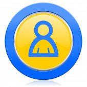 person blue yellow icon
