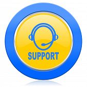 support blue yellow icon