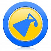 chemistry blue yellow icon