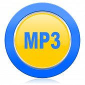 mp3 blue yellow icon