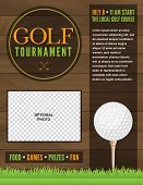 Golf Tournament Flyer Illustration
