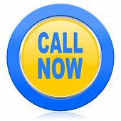 call now blue yellow icon