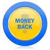 money back blue yellow icon