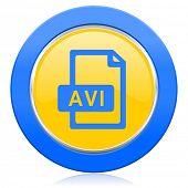avi file blue yellow icon