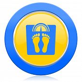 weight blue yellow icon