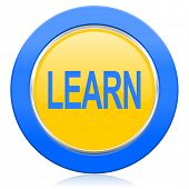 learn blue yellow icon