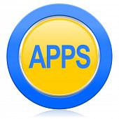 apps blue yellow icon