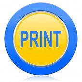 print blue yellow icon