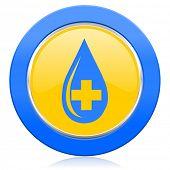 blood blue yellow icon
