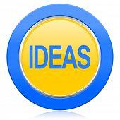 ideas blue yellow icon