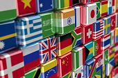 Internationale Flag cubes
