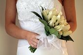Wedding bouquet with bride
