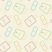 stock photo of popsicle  - A  seamless pattern of cute - JPG