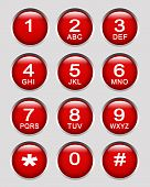 picture of dial pad  - an Illustration of the number key pads - JPG