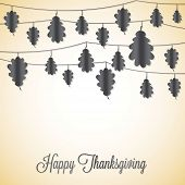 Elegant String Thanksgiving Card In Vector Format.