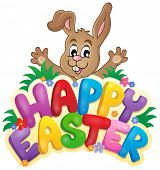 Happy Easter sign theme image 6 - eps10 vector illustration.