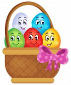 Easter eggs thematic image 5 - eps10 vector illustration.