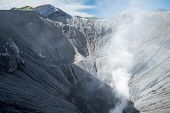 Steam Emerging From Mount Bromo Crater