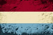 Luxembourg flag. Grunge background. Vector illustration