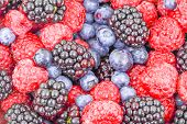 Raspberry, Blackberry And Blueberry Use For Background