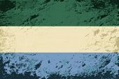 Sierra Leone flag. Grunge background. Vector illustration