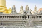 Angkor Wat miniature in Royal Palace and Wat Phra Kaeo Complex in Bangkok, Thailand