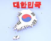 Map Illustration Of South Korea