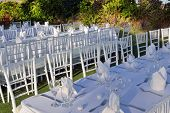 Large outdoor wedding Table
