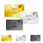 Club Member Metal Modern Cards Template