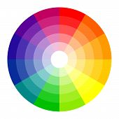 Rainbow Color Wheel 12 Colors