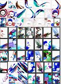 Vector mega collection of abstract backgrounds. Waves, triangle shapes and other