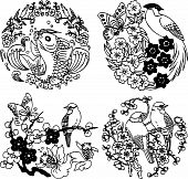 oriental animal and nature design