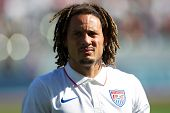 CARSON, CA. - FEB 2 : United States midfielder Jermaine Jones during the USA friendly against Panama on February 2nd 2015 at the StubHub Center in Carson, California.