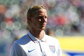 CARSON, CA. - FEB 2 : United States midfielder Brek Shea during the USA friendly against Panama on February 2nd 2015 at the StubHub Center in Carson, California.