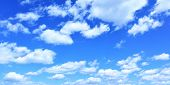 Blue sky and clouds panoramic view