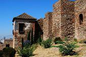 Castle walls, Malaga.