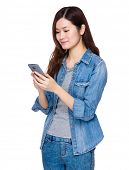 Woman look at mobile phone