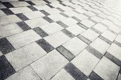 Gray Concrete Tiling With Abstract Pattern, Urban Pavement